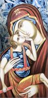 Madonna & Child Icon As Framed Poster