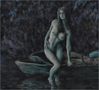 Woman By A Boat