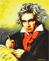 Ludwig Van Beethoven As Framed Poster