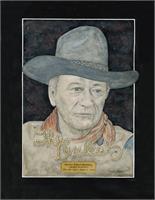 John Wayne As Framed Poster