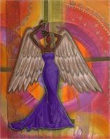 Angel 30 X 24 Acrylic On