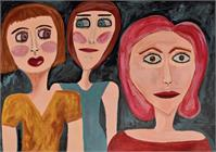 Three Women Looking