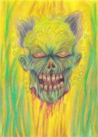 Zombie Art Illustration As Framed Poster