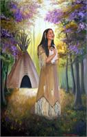 Native American Mother And Child As Calendar