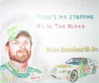 Dale Jr Colored Pencil As Framed Poster