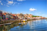 Photograph Of Whitby Harbour In Yorkshire, England As Framed Poster