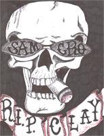 SOA RIP Clay Skull