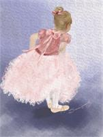 Child Ballerina Awaiting The Moment_by Susan Lipschutz As Greeting Card