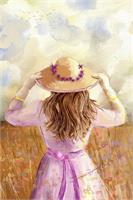 GIRL IN A STRAW HAT_by Susan Lipschutz