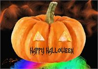 Happy Halloween As Greeting Card