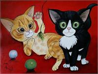 Ginger And Tuxedo Kittens