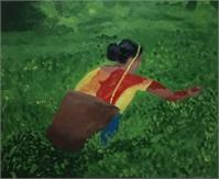 Lady Working In Tea Garden. As Framed Poster