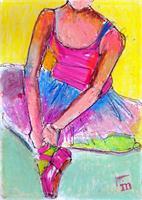 Mya Scribbled Ballerina
