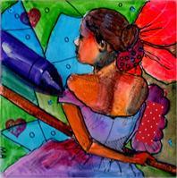 Myra Ballerina Purple Crayon