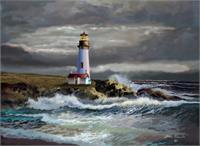 Yaquina Lighthouse At Morning Light