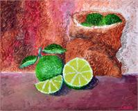 Lime Green As Greeting Card