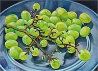 Grape Bunch As Framed Poster