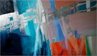 """""""Abstract Discovery3"""".2012.oil On Canvas.cm.40x70"""