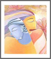 Radha Krishna Copy Oil On Canvas