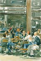 Cafe Scene As Poster