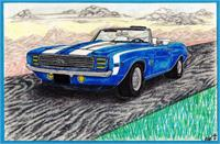 Chev Camaro As Greeting Card