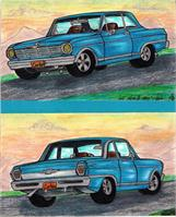 "Classic 62' Chevy Nova II 383"" Muscle Car Twin View Original"