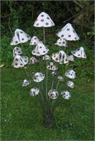 Metal Mushrooms -Stanger Moore Sculpture-Large Spotted Fungi