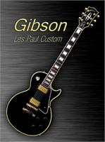 Black Gibson Les Paul Custom