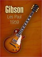 Vintage Gibson Les Paul 1959 As Framed Poster