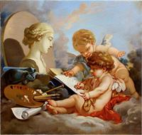 Cupids. Allegory Of Painting.