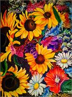 Sunflowers As Greeting Card