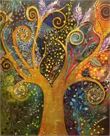 A Tree Of Life with Spirals As Poster