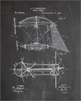 Steampunk Airship Patent Chalk
