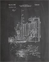 Vintage Camera Patent Chalk As Framed Poster