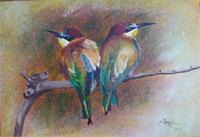 Ari Kusu ( Birds )Oil On Canvas X