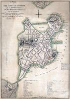 1775 Town Plan Of Boston Map