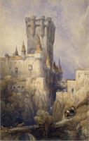 Travelers To The Castle As Framed Poster