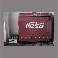 Vintage Coca Cola Cooler As Framed Poster