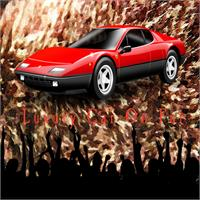 Luxury Car On Fur - Brownish Fur Oil Painting Background Texture With Crowd Cheering