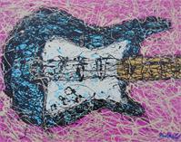 Drip Paint Guitar