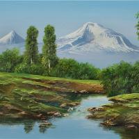 Mt Ararat Behind A River