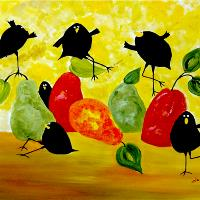 Crow And Pear