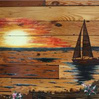 A Wooden Sunset