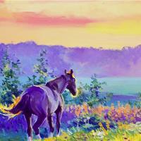 Horse In The Fields