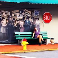 Savanna Bus Stop Art