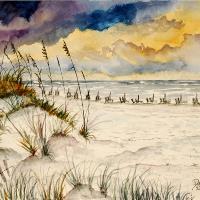 Destin Beach Painting Art Print