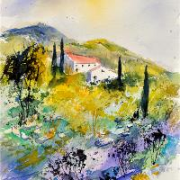 Watercolor Provence 3140