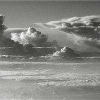 Towering Clouds In Black And White