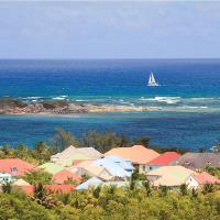 Scenic Overlook Vista Of Orient Bay, St. Martin