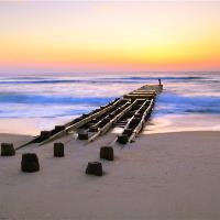 Old Pier At Dawn Nags Head Outer Banks North Carolina